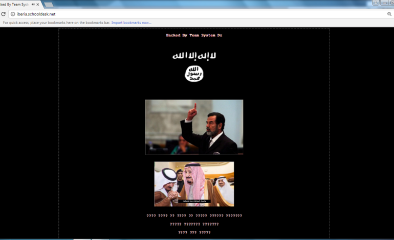ISIS hacks host for two local school board websites