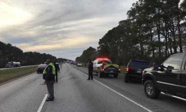 Two adults, five students injured in school bus crash on I-10