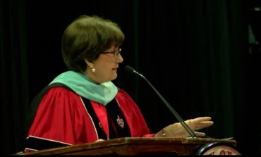 Blanco speaks at UL Lafayette Fall 2017 Commencement, first public appearance since announcing latest battle with cancer