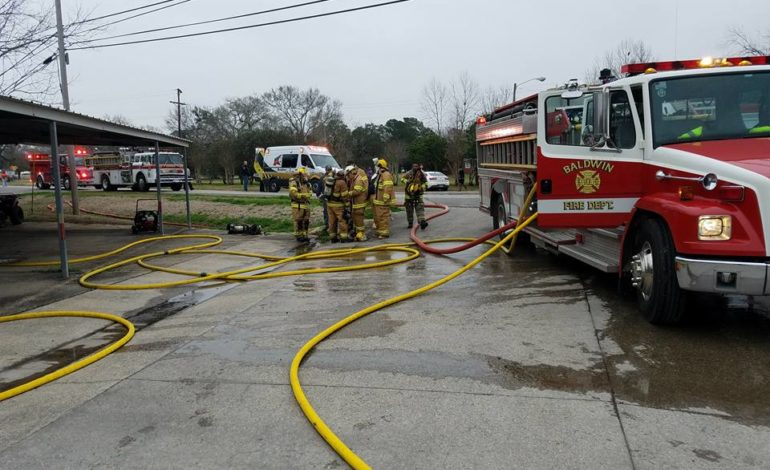 Fire injures inmate at Baldwin Police Department