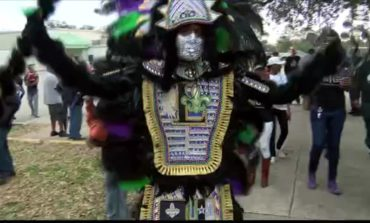 Mardi Gras Indians of Lafayette Come Out To Party