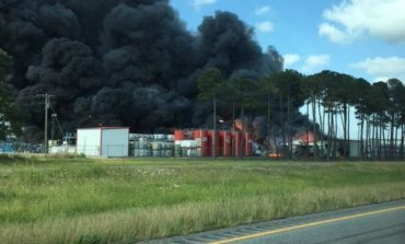 Mire evacuation lifted in wake of fire at Flow-Chem plant outside Duson