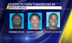 Three men turn themselves in after Breaux Bridge shooting