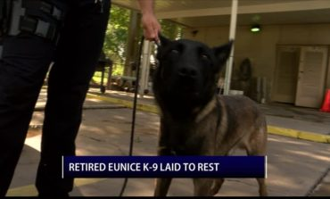 Eunice K-9 officer laid to rest