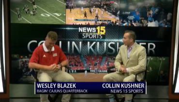 UL Football: Wesley Blazek Joins Collin Kushner On-Set