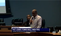 Pat Lewis Introduces New City-Parish Council Proposal At Town Hall Meeting
