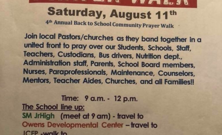 4th Annual Back to School Community Prayer Walk