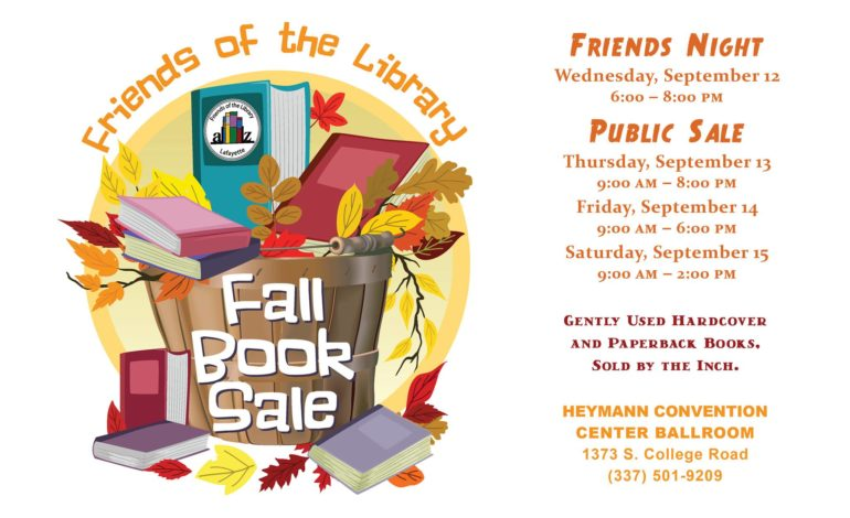 Friends of the Library Fall Book Sale - News15 | Lafayette, LA