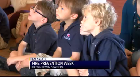Local kids learn about fire prevention