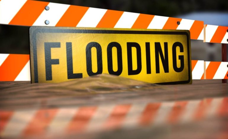 Flooding affecting roadways in Iberia Parish