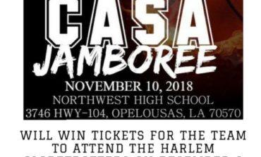 Basketball Jamboree team with the most fans in attendance to win Harlem Globetrotters tickets