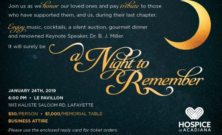 "Hospice of Acadiana hosts ""A Night to Remember"" – 2019 Gala"