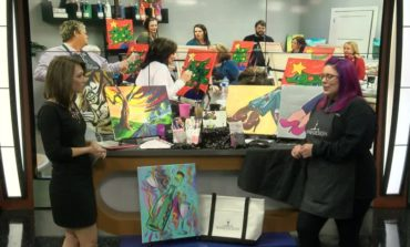 You can paint and drink your wine too! Join Wine & Design for their Grand Opening.