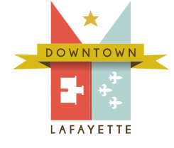 Downtown Lafayette parklet ribbon cutting and mural unveiling
