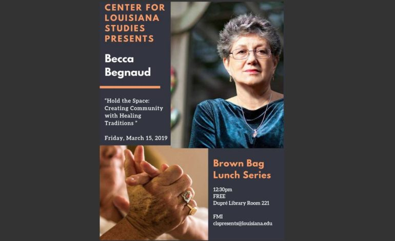 Brown Bag Lunch Series Featuring Becca Begnaud