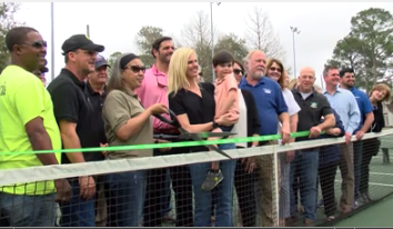 With the Community's help, New Iberia City Park Opens Renovated Tennis Courts