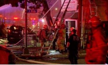 Large Fire Uptown Breaks Out After Driver in Stolen Car Crashes into Building; 2 Dead, Police Say