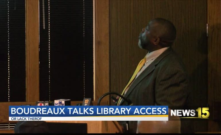 Boudreaux Talks Library Access Or Lack Thereof