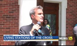 UL Students Perform Living Stations Of The Cross