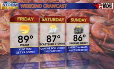 Sunny & Warm Friday, Weekend Storms