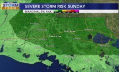 Scattered Storms On Sunday