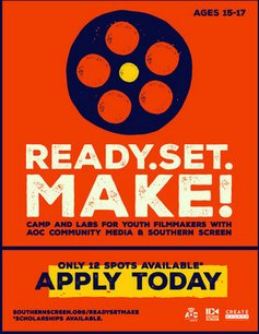 AOC accepting applications for teen film making camp