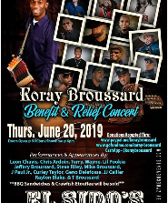 Benefit and relief concert for Koray Broussard