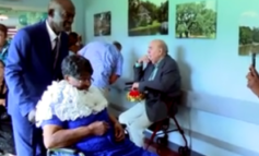 "Nursing home residents attend their ""senior prom"""