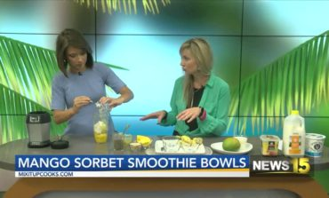 Mango Sorbet Smoothie Bowls With Mix-It-Up Cooks