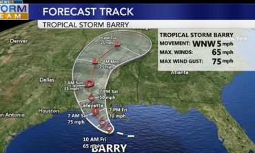Tropical Storm Barry strengthening, expected to make landfall as Category 1 storm