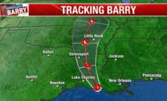 Barry strengthens to a hurricane as it heads toward the Louisiana coast
