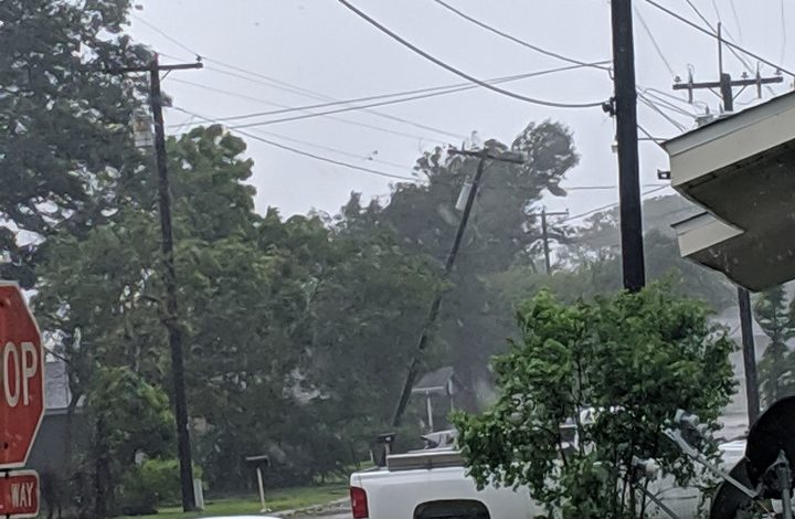Power line tilting