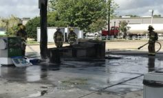 Fire at Chevron Gas Station on Ambassador Caffery