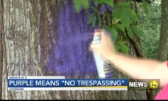 "Purple means ""no trespassing"""