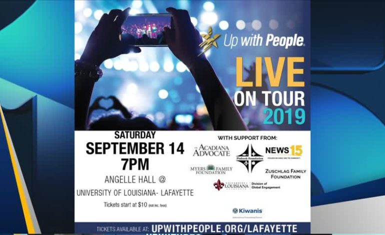 Up With People Live On Tour - News15   Lafayette, LA