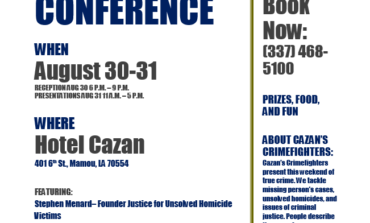 Hotel Cazan and Cazan's Crimefighters Present: A Cold Case Conference