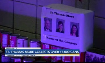 St. Thomas More Collects Over 17,000 Cans