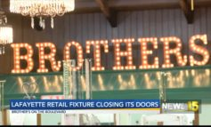 Lafayette Retail Fixture, Brothers On The Boulevard, Closing Its Doors