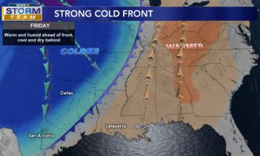 Cold Front Tomorrow, Great Weekend To Come