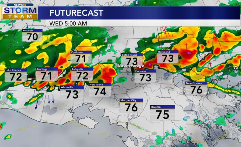 Rain Chances Today, Cooler Temperatures Wednesday