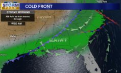 Cold Front Moves Through Tomorrow