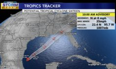 Potential Tropical Cyclone 16 forms in the Gulf