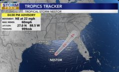 On the Dry Side of Tropical Storm Nestor