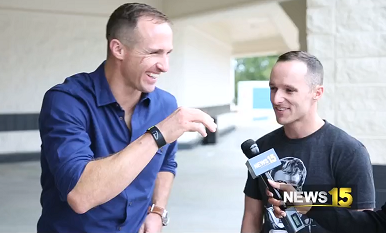 News15 Arranges For Drew Brees To Meet His Lookalike