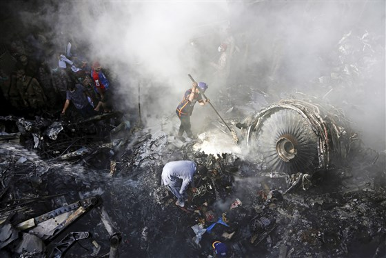 Image for Dozens Feared Dead After Plane Crashes Into Residential Area of Karachi, Pakistan's Largest City