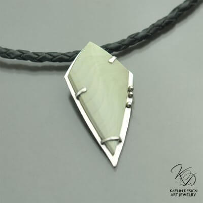 Capturing the Wind Fine Art Pendant by Kaelin Design