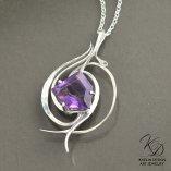 Tempest in Amethyst fine art jewelry pendant by Kaelin Design