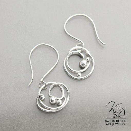 Orinoco Forged Silver Earrings by Kaelin Design