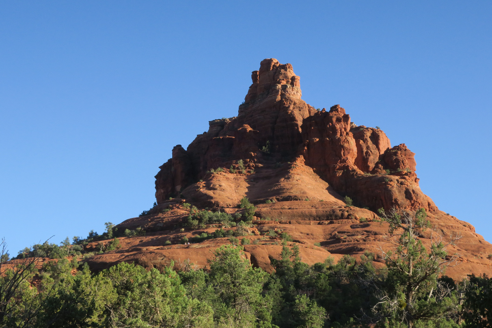 Photo of mountain shaped like a bell