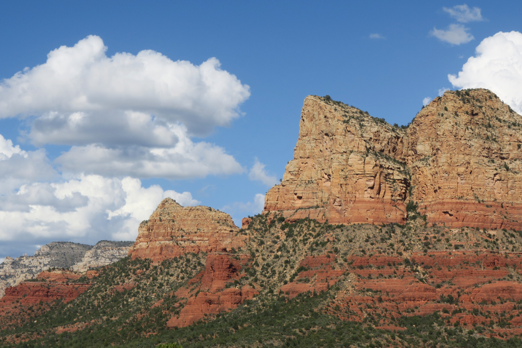 Photo of red rock mountains